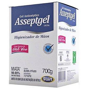 ALCOOL GEL ASSEPTGEL CRISTAL 700 GRAMAS (BAG)