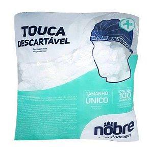 TOUCA DESCARTAVEL SANFONADA COM 100 UNIDADES NOBRE