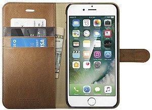 7ebb4f3da Capa couro Spigen Wallet Apple iPhone 7 PLUS Capinha Carteira Marrom
