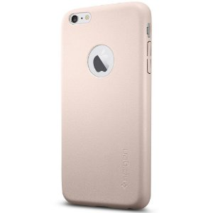 Case Spigen Couro Slim Rosa Claro iPhone 6s 6 Plus Capa Fina