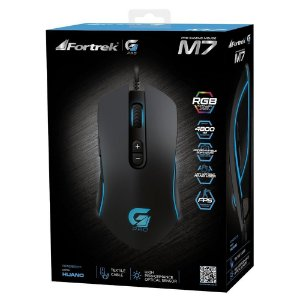 Mouse USB Fortrek M7 Gamer RGB 4800DPI