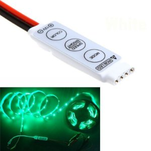 Mini Controle Dimmer Controlador Para Fita Led Rgb 5050 / 3528 - Para Fita Led 24 Botões.