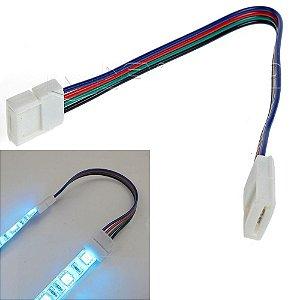 Emenda Rápida Para Fita Led Rgb 5050/3528 - Conector 10mm