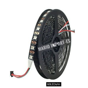 Fita Led Ws2812b Ws2812 Endereçável 5 Metros 300 Led 5 Volts Sem Silicone