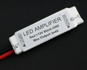 Amplificador de Sinal Para Fita Led Colorida Rgb 5050/3528