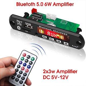 Placa Decodificadora 12v Mp3 Usb Aux Fm Bluetooth Módulo