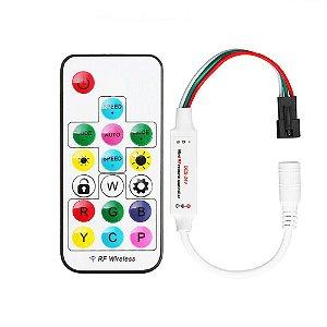 Controladora SP104e 5-24v Para Fita Led Rgb Digital Endereçável Ws2811, Ws2812b, 6803, Etc.