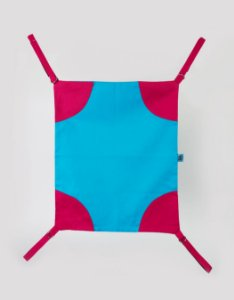 Rede de cadeira - Azul e Rosa