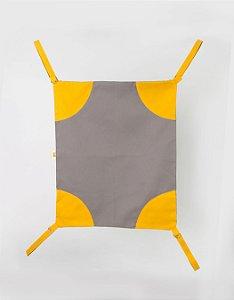 Rede de cadeira - Cinza e Amarelo