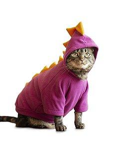 Fantasia de Dinossauro Roxo | Para Gatos