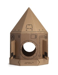 Nave espacial de Papelão | Para Gatos