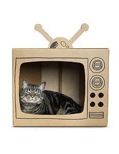 TV Tubo de Papelão | Para Gatos