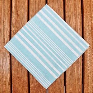 Guardanapo Algodão Listras Irregulares Azul e Branco