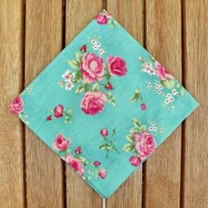 Guardanapo Algodão Floral Fundo Tiffany