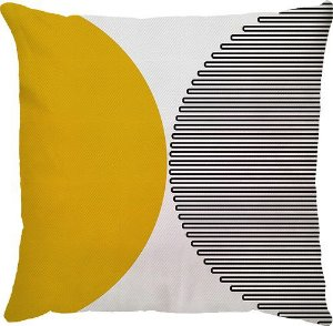 Capa Meia Lua Amarelo/Preto