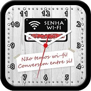Relógio de Parede divertido - Não temos wi-fi