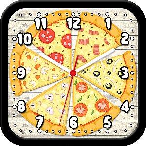 Relógio de parede divertido - Pizza