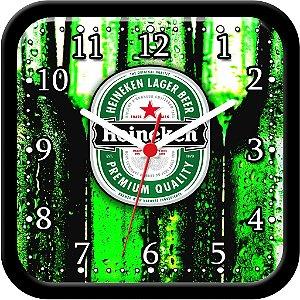 Relógio de parede divertido - Cerveja Heineken Garrafas