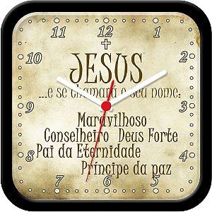 Relógio de parede religioso - Jesus - Isaías 9:6