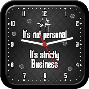 Relógio de parede divertido - It's not personal, it's strictly Business - GodFather