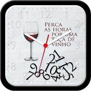 Relógio de parede divertido - Perca as horas por uma taça de vinho