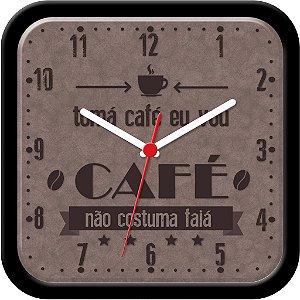 Relógio de parede divertido - Tomá café eu vou, café não costuma faiá