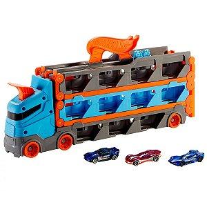 Guincho Caminhão Speedway Hauler - Hot Wheels City - Pista De Corridas - Mattel