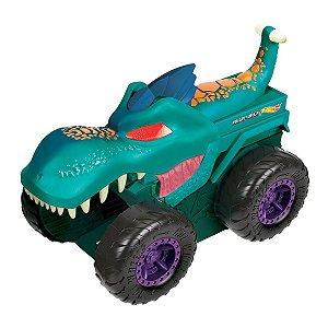 Monster Trucks Devorador de Carros - Hot Wheels - Car Chompin Mega Wrex - Mattel