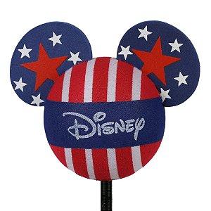Enfeite para Antena Disney Mickey Bandeira Estados Unidos