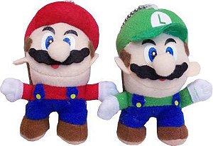 Chaveiro De Pelúcia Mario & Luigi
