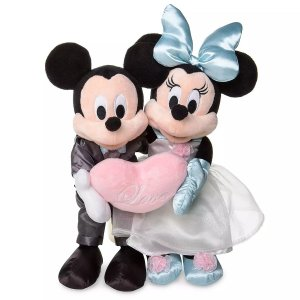 Pelúcia Mickey & Minnie Noivos Disney