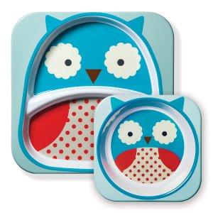 Kit de Pratos Skip Hop Zoo Coruja