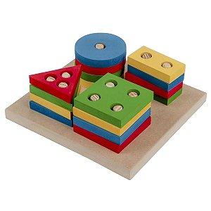 Prancha de Seleção Pequena Brinquedo Educativo Pedagógico Carlu
