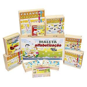 Maleta Alfabetização Brinquedo Educativo Pedagógico Carlu