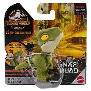 Dinossauro Velociraptor - Snap Squad - Jurassic World - Mattel