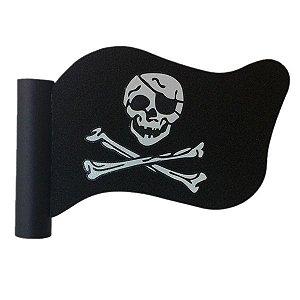 Enfeite para Antena Bandeira Pirata
