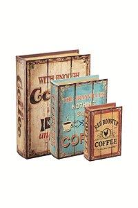 CAIXA LIVRO COFFEE 3PÇS