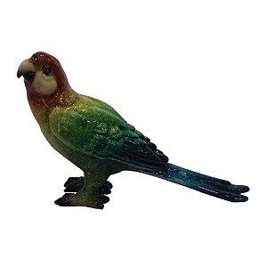 Pássaro de Cerâmica Colorido