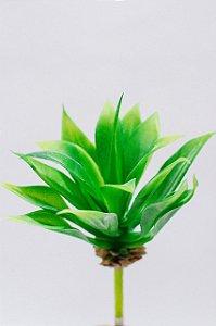 Suculenta artificial folha média verde