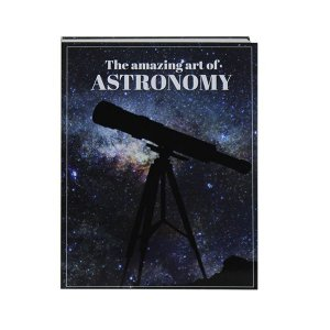 Livro decorativo art of astronomy