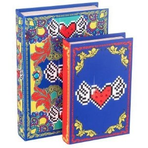 Caixa Livro Amor de Pixel Heart conjunto c/2