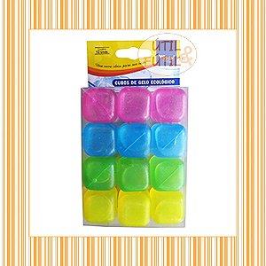 Kit Com 12 Unidades De Cubos De Gelo Ecológico