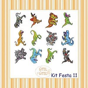 Kit com 12 Tatuagem Temporária Infantil - Modelos 11 a 20