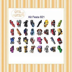 Kit com 32 Tatuagem Temporária Infantil - Modelos 21 a 30
