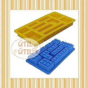 Forma para Gelo ou Chocolate Bloco Lego 10 peças
