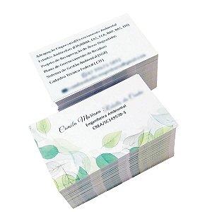 Cartão de Visita 4x4 - Papel couche 300gr - UV Total Frente