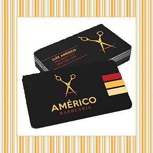 Cartão de Visita - 4,8 x 8,8 cm - 4x4 - Laminação Fosca e Verniz Localizado Frente - Couchê 300gr - 4 cantos Aredondados