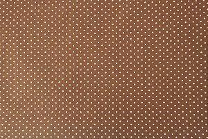 Tecido para Patchwork Poá Rosa fd. Marrom (0,50m x 1,50m)