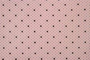 Tecido para Patchwork Poá Marrom fd. Rosa (0,50m x 1,50m)