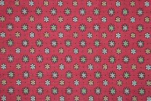 Tecido para Patchwork JS Floral Pequeno Pink (0,50m x 1,50m)